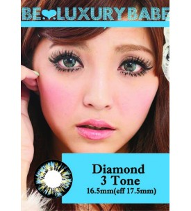 Barbie Lens 16.5mm - Diamond 3 Tone - Blue