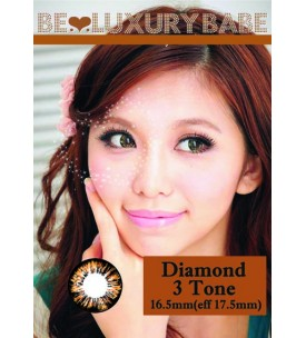 Barbie Lens 16.5mm - Diamond 3 Tone - Brown