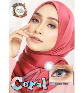 Western Eyes - Coral - Grape Blue