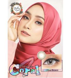 Western Eyes - Coral - Olive Brown