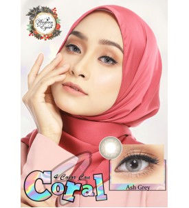Western Eyes - Coral - Ash Grey